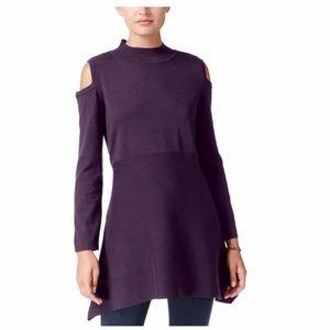 Style & Co Cold-Shoulder Mock-Neck Tunic Sz SP